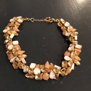 J. Crew Blush Cluster Choker Necklace